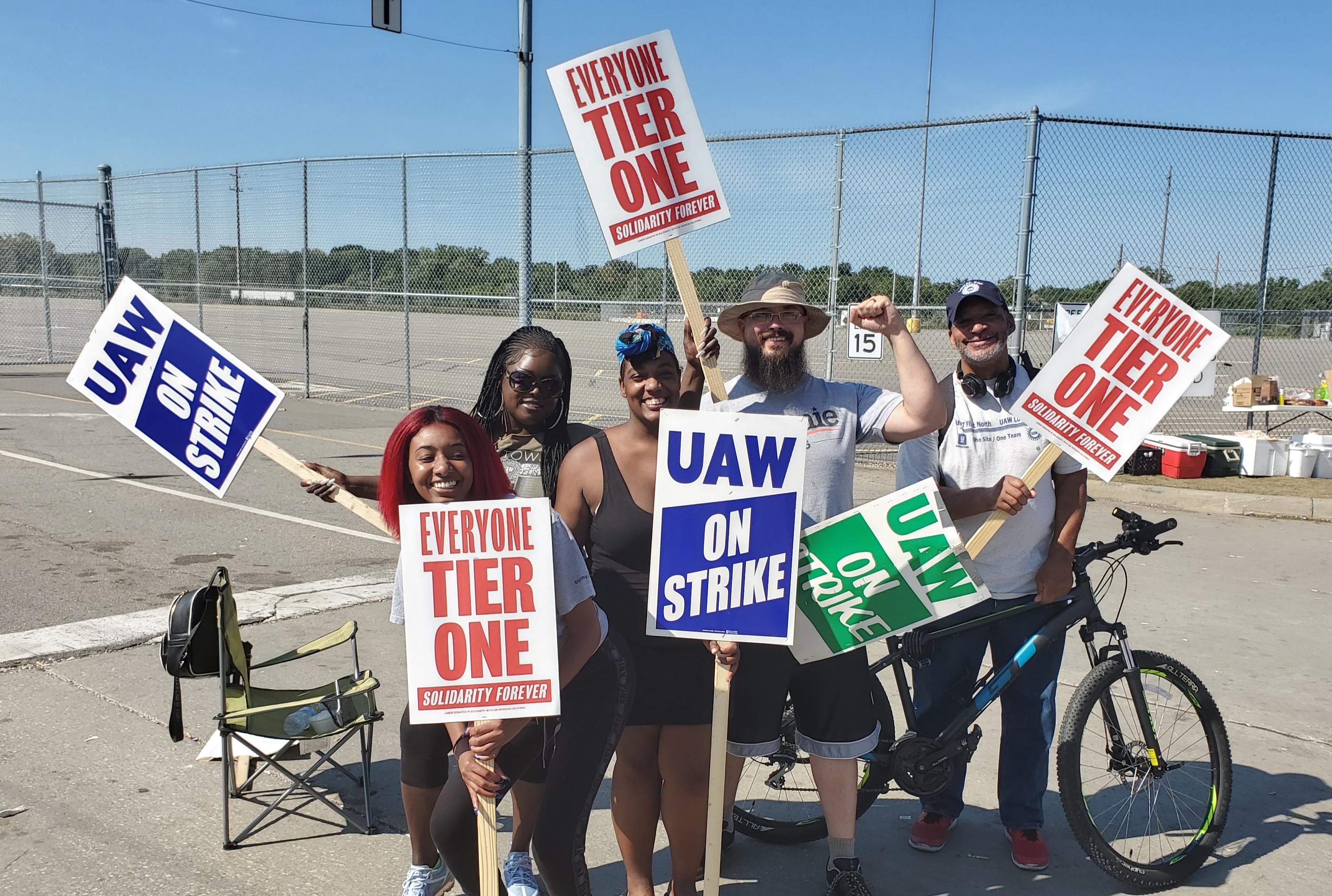 GM Workers on strike.