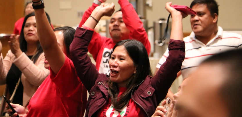 Member celebrates ratification vote in Hawaii after UNITE HERE Marriott strike