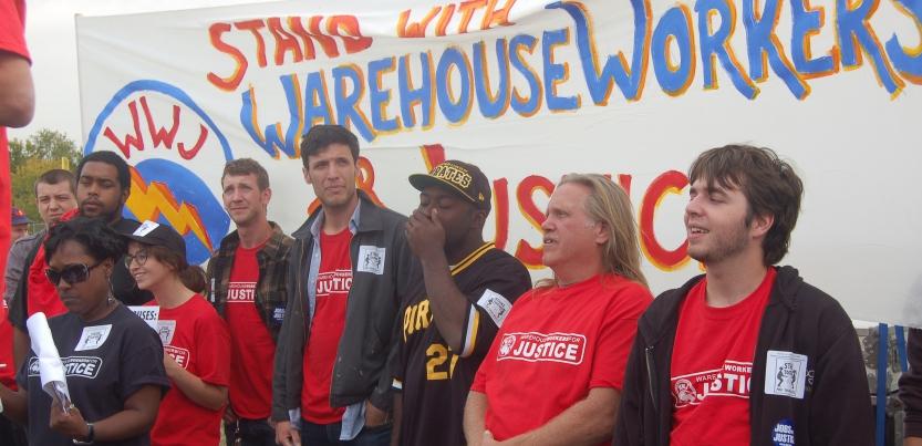 Strike Supporters Shut Down Illinois Walmart Warehouse