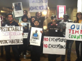 Fair Workweek Initiative protests for fair wages, fair hours, and predictable schedules.
